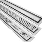 Stainless Steel Linear Drain for Curbless Shower, GRATE & FLANGE w Sealant