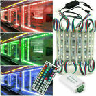 US 3 LED 5050 SMD Module Light Store Front Window Sign Lamp+Remote+DC 12V Power