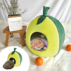 Lemon Cat Cave Bed Large Kittens Soft Plush Indoor House Igloo Removable Cushion