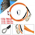 Kyпить Safety Steel Wire Core Lanyard Kit with Hook Carabineer Climbers Tree Climbing на еВаy.соm