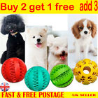 Rubber Chew Ball Teething Dental Health Treat Clean Toy Pet Dog Puppy Durable AD