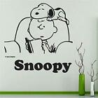 Sleepy Snoopy Charlie Brown Cartoon Wall Sticker Home Room Vinyl Art Decal Decor
