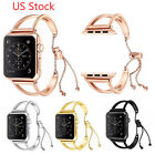 US Metal Strap Stretch Bracelet for Apple Watch Series 5 4 3 2 Band Strap Bangle image