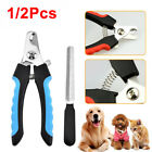 1/2Pcs Animal Pet Dog Cat Nail Clippers Trimmers Soft Grip Claw Grooming UK SHIP