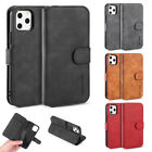 Retro Flip Card Slot Case For Iphone 12 11 Pro Max X 7 8 Plus Pu Leather Cover