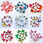 12pcs 3d Butterfly Decal Wall Stickers Home Diy Art Decor Children Room Bedroom