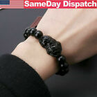 2/4PCS Feng Shui Black Obsidian Beads Bracelet Attract Wealth & Good Luck Bangle