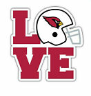 Arizona Cardinals Love NFL Sticker Vinyl Decal 4-1248 $5.24 USD on eBay
