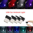 1x 8x Mini Flexible Usb Led Light Interior Car Strip Neon Car Atmosphere Lamp Rk