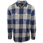 Rip Curl Men's Navy Grey Yellow Plaid L/S Flannel Shirt (S02)