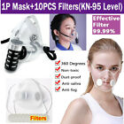 Respirator Reusable Clear Washable Air Pollution Face Mask With Filter Us