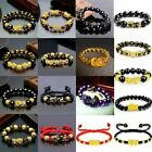 Feng Shui Pi Xiu Bracelet Black Obsidian Beads Attract Wealth Good Luck Wishes ^