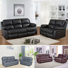 MILANO FULLY RECLINING LAZYBOY SOFA SET SUITE LEATHER RECLINER 3+2 SOFAS