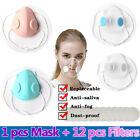 Anti-droplets Clear Two Valves Face Masks Respirator Mouth-muffle Purify&12 Pad