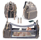 Kyпить 3 in 1 Travel Bassinet Foldable Baby Bed Diaper Bag Backpack Waterproof USB Port на еВаy.соm