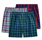 Fruit Of The Loom Mens Woven Dual Defense Relaxed fit Tartan Plaid Boxers 3-Pack