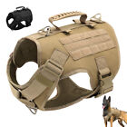 Military Tactical Dog Training Harness Molle Service No Pull Harness with Handle