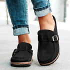 WOMENS SLIP ON LOAFERS BUCKLE STRAP PUMPS FLATS LADIES CASUAL LAZY SHOES SIZE