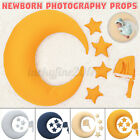 Newborn Baby Girl Boy Infant Moon Pillow Photo Photography Stars Hats Props Set