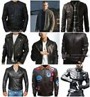 Leather Jacket For Mens Cafe Racer Real Leather Motorcycle Jacket Outfit For Men