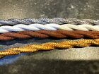 5m of 2 Core Braided Fabric Cable Lighting Flex Vintage look -...
