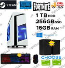 Fast Gaming Pc Computer Bundle Intel Quad Core I7 16gb 1tb+256gb 4gb Gt1050