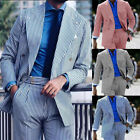 Seersucker Men's Suits Wedding Formal Double-breasted Party Tuxedos Tailored