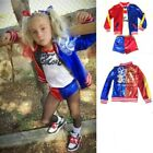 Kyпить Kids Girls Halloween Cosplay Suicide Squad Harley Quinn Pennywise Clown Costume на еВаy.соm