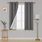 Deconovo Thermal Insulated Room Darkening Blackout Curtains Grommet Draperies Wi