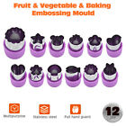 12Pcs Cookie Shape Cutter Mold Fruit Vegetable Stainless Steel Mould Food Mould