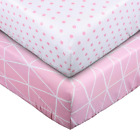 UOMNY Crib Sheet Set 100% Natural Cotton Fitted Crib Sheets Baby Sheet Set for S