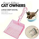 Litter Shovel Stainless Steel Saves Time Reduces Dust Tool Pet Cleaning A3X8