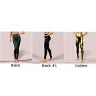 Womens Faux Leather Wet Look Pants Ladies Shiny Elasticated High Waist Leggings