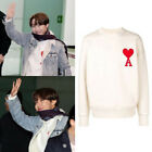 New J Hope BTS Heart Applique Sweater Jumper Army