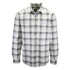 prAna Men's Grey  White L/S Flannel Shirt S13
