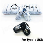 10/100 Type-C Fast Charging Cable For  Samsung Phone Android Black&whihte LOT