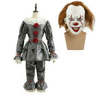 Halloween Cosplay Clown Mens Outfit Stephen King IT Pennywise Adult Costume Suit