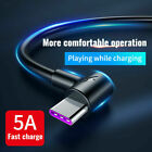 Fast Charger Type C USB Data Cable Lead for Samsung Galaxy S20, S10, S9, S8 +