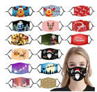 Christmas Adjustable Face Mask Cloth Reusable Breathable Washable For Adult Xmas