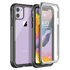 For iPhone 12/12 Mini/12 Pro Max Clear Full Body w/t Screen Protector Case Cover