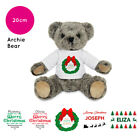 Personalised Name Christmas Archie Teddy Bear Stocking Fillers Kids Boys Girls