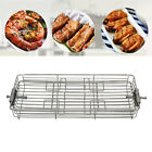 25L-42L Rotary Oven Grill Cage BBQ Rotisserie Roaster Shrimp Meat Basket photo