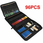 96PCS Professional Sketching Drawing Set Art Pencil Kit Artist Graphite Charcoal