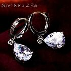 Multiple Choice 18k White&rose Gold Filled Crystal Diamond Exquisite Earrings