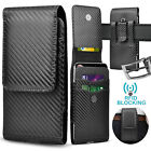 Vertical Cell Phone Holster Pouch Wallet Case With Belt Clip For iPhone Samsung