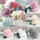 5 Heads Silk Rose Artificial Flowers Fake Bouquet Buch Wedding Home Party Decor