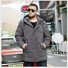 Men's Fall Winter Casual Down Coat Hooded Loose Fit Warm Oversize Fashion Jacket