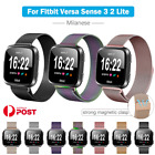 For Fitbit Versa 3/sense 2 1 Lite Band Milanese Stainless Magnetic Watch Strap