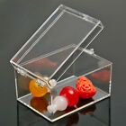 Clear PC Storage Boxes Plastic With Lids Cheap Display Sample Collection Boxes