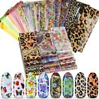 Nail Art Stickers | Foils Nail Transfer  | Glitter | Decals | 10 Packs